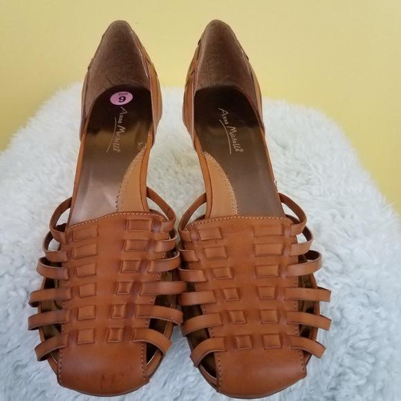 Shoes - Classic Anne Michelle Huarache  Woven Sandal/Pumps